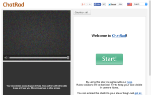 Chatrad - sites like Omegle and Chatroulette Alternatives