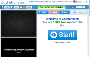 Chatrandom - Sites like Omegle and Chatroulette Alternatives