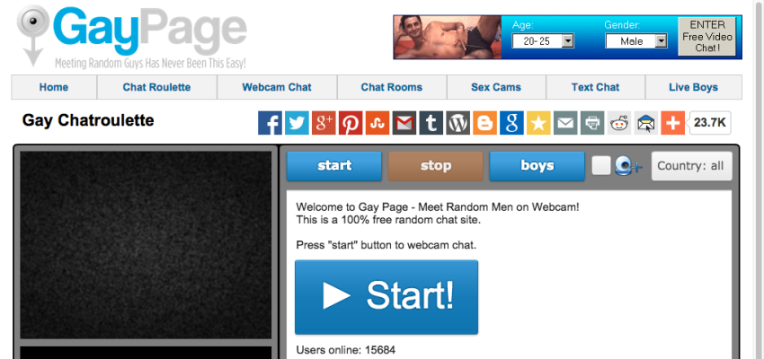 GayPage - sites like Omegle and Chatroulette Alternatives