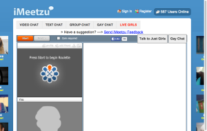 iMeetzU - sites like Omegle and Chatroulette Alternatives