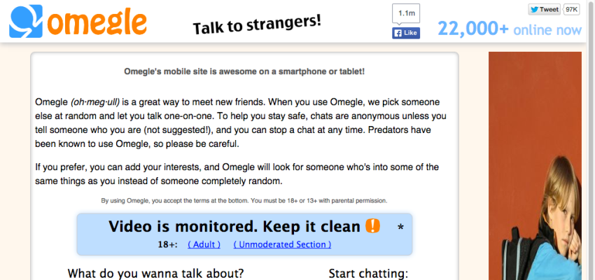 Omegle - sites like Omegle and Chatroulette Alternatives