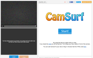 CamSurf - sites like Omegle and Chatroulette Alternatives
